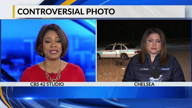 Controversial photo on fake police car