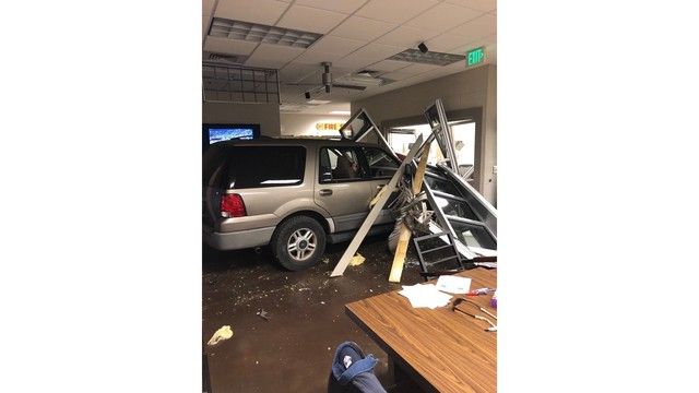 Driver crashes into fire station 14 in Birmingham