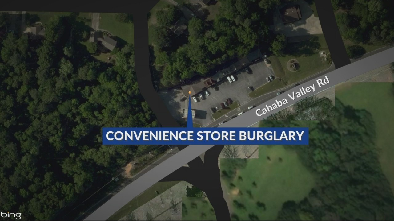 Convenience store burglary in Hoover