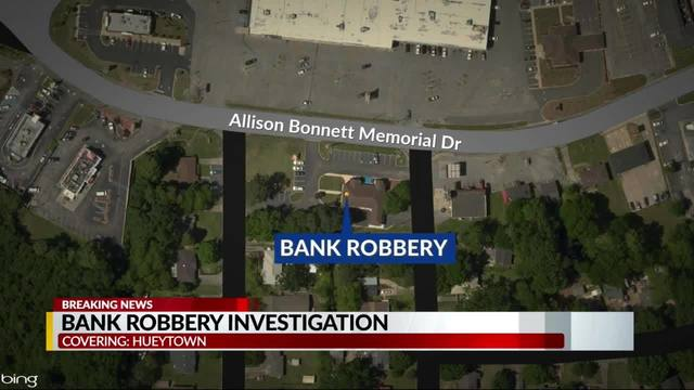 PNC Bank robbery in Hueytown