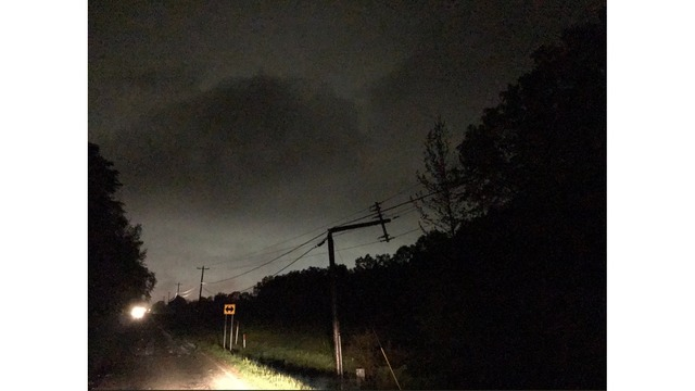 Snapped powerline in Starkville, MS area