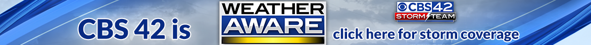 CBS 42 is Weather Aware for Thursday's Severe Storm CLICK HERE for coverage