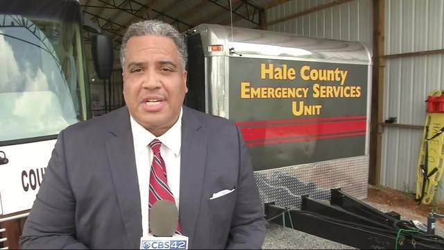 Hale County mobile hospital trailer